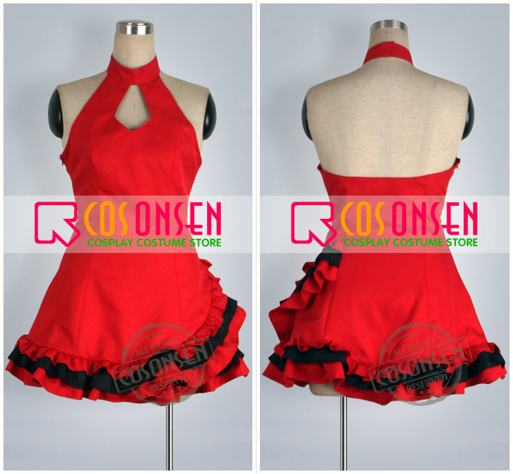 COSPLAYONSEN Vocaloid Project DIVA Meiko Lolita Gown Cosplay Costume Red Dress Custom Made