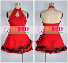 فستان كوسبيليونسين فوكالويد ديفا ميكو لوليتا زي تنكري فستان أحمر مصنوع حسب الطلب