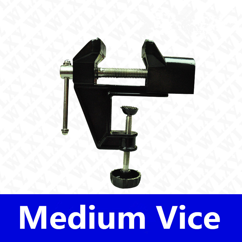 Medium Table Vice Aluminium Alloy Bench Screw Bench Vise for DIY Jewelries Craft mould Fixed Repair Tool+free shipping mini table vice adjustable max 37mm plastic screw bench vise for diy jewelry craft repair tools dremel power tools accessories