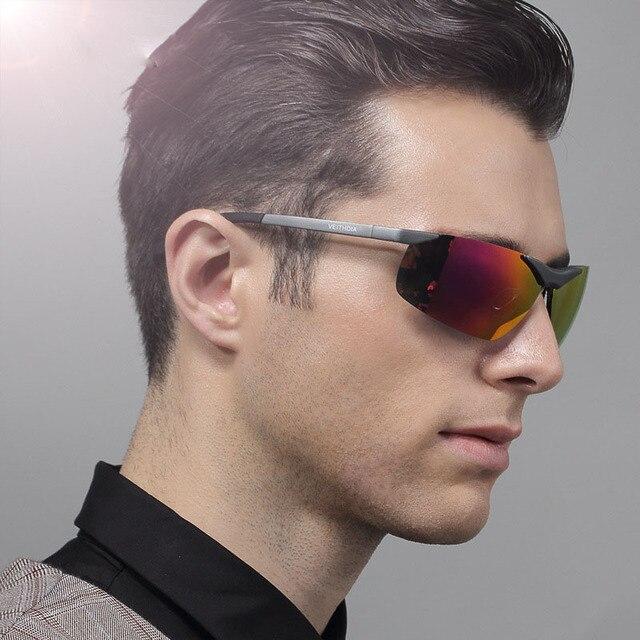 VEITHDIA Aluminum Magnesium 2018 New Men Brand Designer Driving Polarized Sunglasses Glasses Color Film Sun Goggles Eyeglasses 4