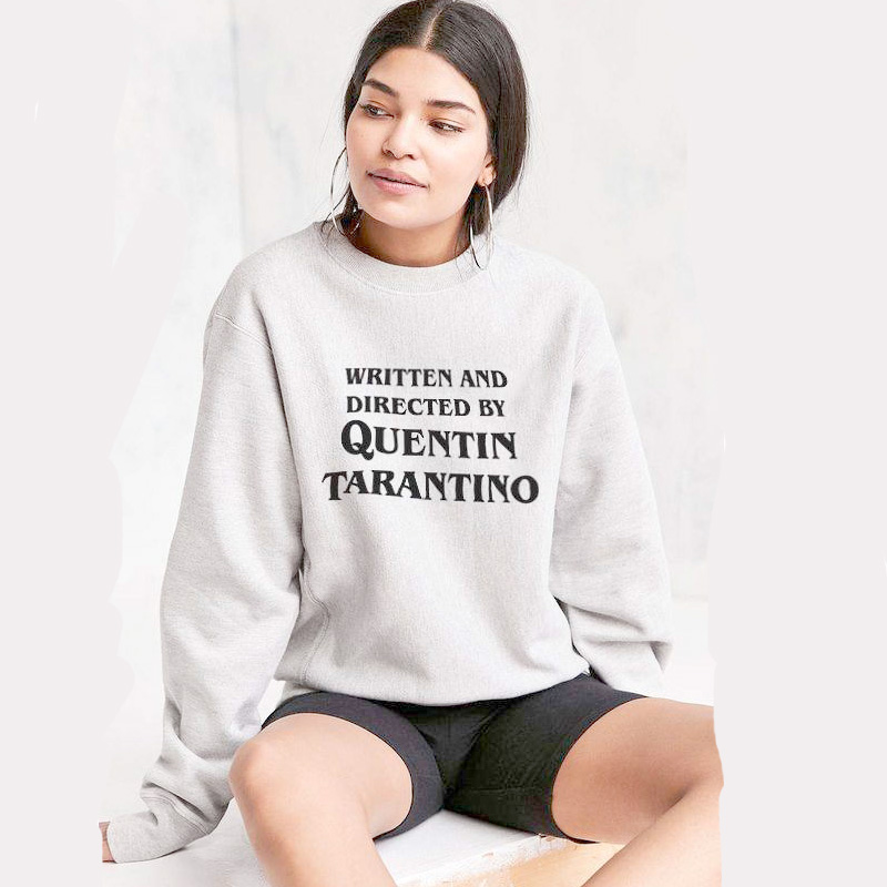 Pkorli WRITTEN AND DIRECTED BY QUENTIN TARANTINO Sweatshirt Women Casual Long Sleeve Cerwneck Sweatshirts Tops