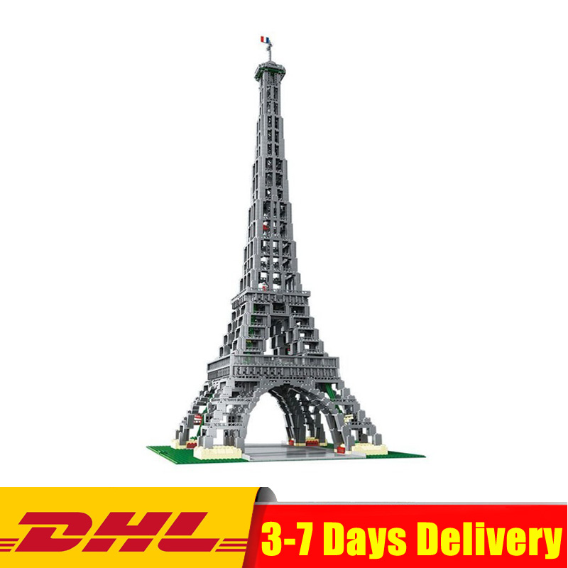 DHL IN STOCK Lepin 17002 3478pcs The Eiffel Tower Model Building Kits Brick Toys Compatible 10181 Christmas Gifts