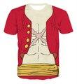 Cartoon inconformista camisetas de las camisetas del mono D Luffy 3d camiseta One Piece personajes Print camisetas mujeres hombres Summer Casual tee shirts