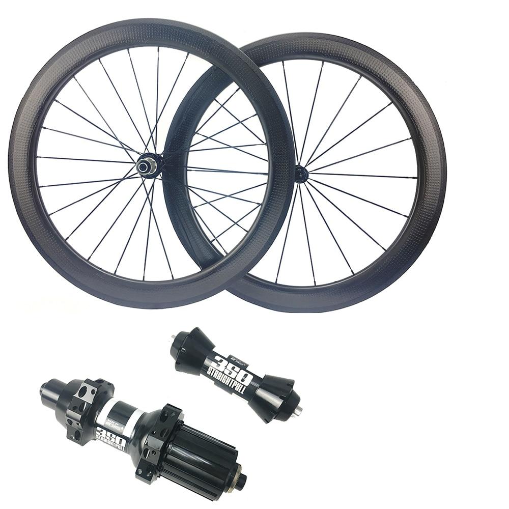 NSW 58mm Dimple Carbon Wheel Clincher Tubular Wheels Sawtooth Brake Road Bike Wheelset DT350s Straight Road