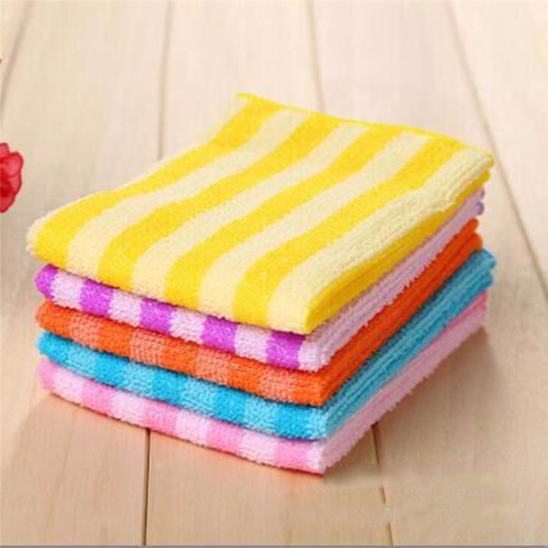 New Multi-purpose Cloth 5pcs/set Kitchen Polish Table Window Scouring Pad Dish Towels Absorption Home Floor Cleaner 30*30cm