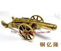 Carving Dzieła sztuki Mosiądz cannon długim 20 cm cannon małe armaty model fortune miedzi miedzi w Posągi i rzeźby od Dom i ogród na