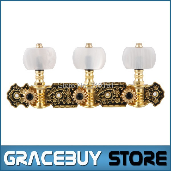 Alice Classical Guitar Gold Black Plated Tuning Keys Pegs Tuners Machine Head For Nylon Guitarra