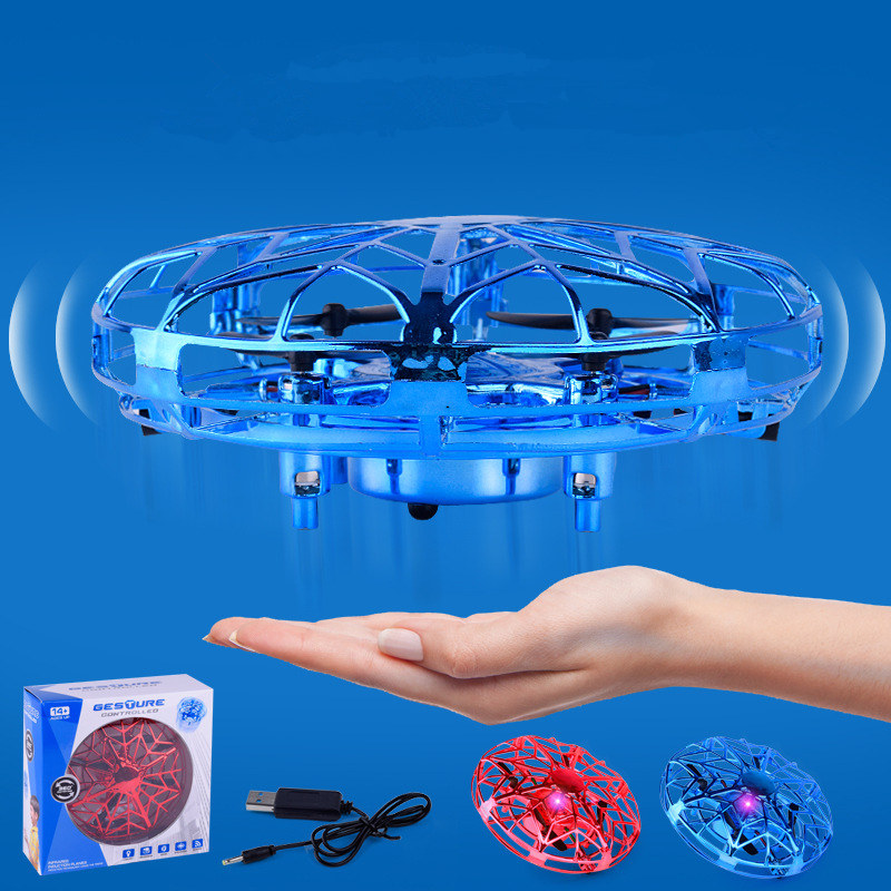 Mini Four-axis Drone UFO Gesture Sensing Aircraft Suspension Intelligent RC Airplane Floating Intelligent Induction Airplane image