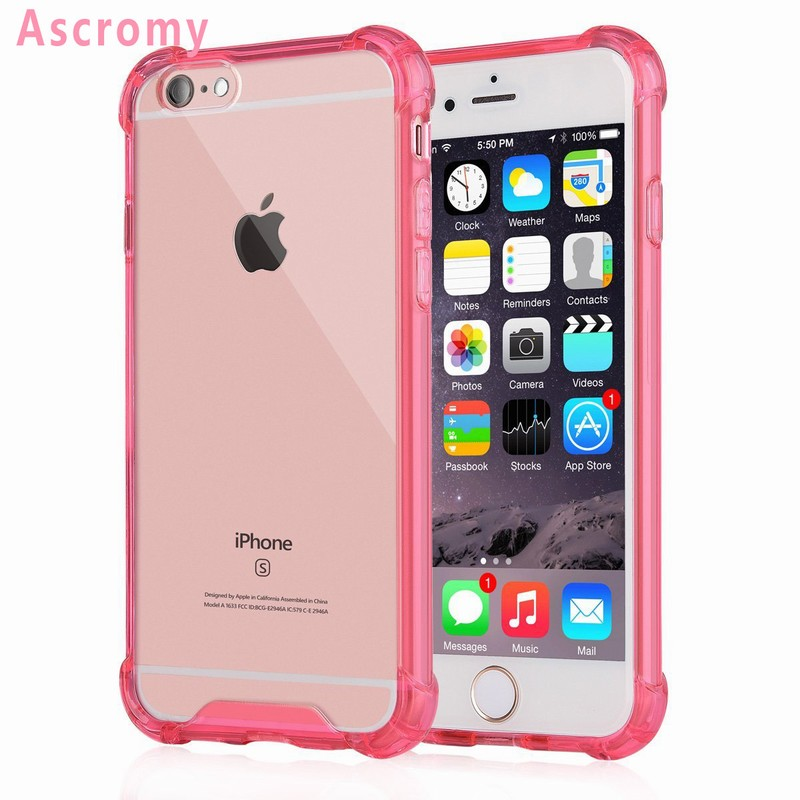 release date 87a86 d71ed US $7.98 |Ascromy For iPhone 5S 5 S SE Transparent Hard Plastic Back Plate  Soft TPU Gel Cover Cases For Apple iPhone SE Coque Accessories-in Fitted ...