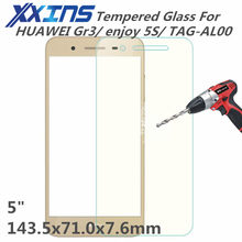 Tempered Glass For HUAWEI Gr3 enjoy 5S TAG-AL00 screen protective 5 inch cover smartphone toughened case 9H on crystals thin(China)