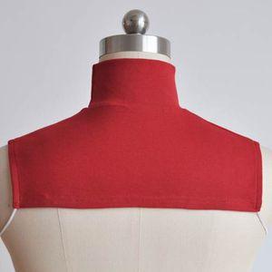 Image 3 - Örgü Sahte Yaka islami başörtüsü Uzatma Boyun Göğüs arka kapak Eşarp Yaka Moda Düz Renk Giysi Aksesuarları