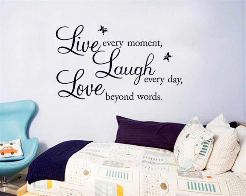 Creative Vinyl DIY Live Laugh Love Quotes Letters Wall Sticker Living Room Home Decor Removable PVC q50
