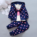 Autumn Baby Clothing Girl / Boys Kids Minnie Mickey Girls Boys Clothes T-shirt+coat+pants 3 Suit Girls Boys Clothing Sets