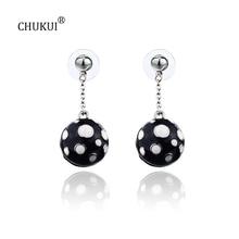 hot deal buy chukui fashion jewelry long drop earrings for women casual polka dot earring female girl cute gift