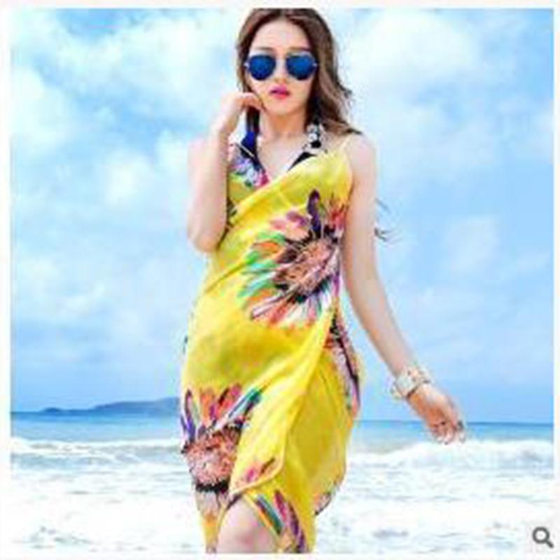 4545f02876 New fashion sunscreen bikinis beach towel scarf dress beach type ...