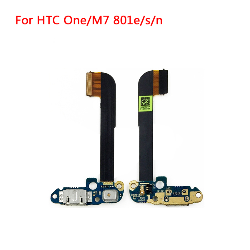 International Version Replacement Dock Connector For HTC One M7 D801E USB Charging Port Flex Cable With Microphone