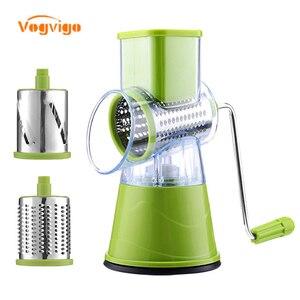 Image 1 - VOGVIGO Manuelle Gemüse Cutter Slicer Küche Zubehör Multifunktions Runde Mandoline Slicer Kartoffel Käse Küche Gadgets