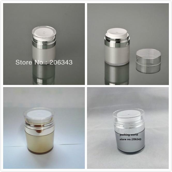 30 g parelwitte / zilveren / gouden pot van acrylaat, zonder lucht, - Huidverzorgingstools