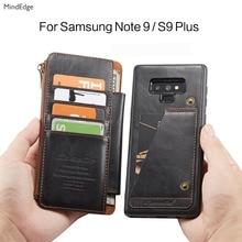 Карман на молнии съемный флип-кейс для samsung Galaxy S9 плюс Чехол кожаный бумажник Элитный бренд защитную крышку для samsung Note 9