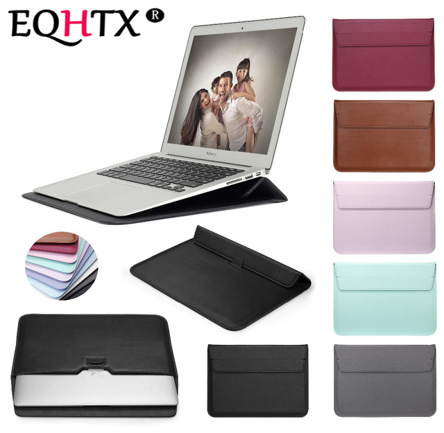 EQHTX-Leather Envelope Sleeve Bag Case For Macbook Air 13 Pro Retina 11 12 13 15-Notebook Laptop Cover For Macbook 13.3 inch
