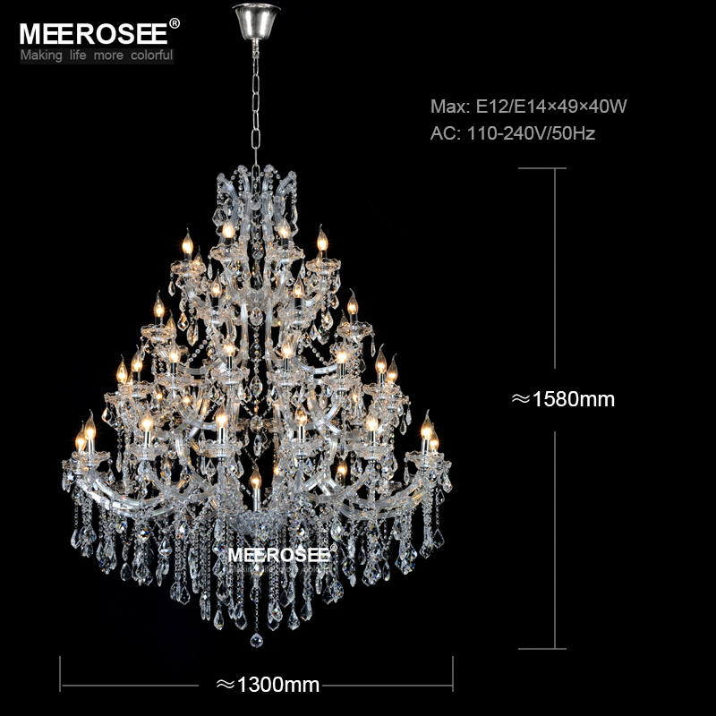 Lustre de candelabru de cristal mari de lux Maria Theresa Lumină de - Iluminatul interior - Fotografie 3