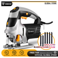 DEKO QD6609 800W Power Tool 6 Variable Speed Jig Saw with Laser Guide Electric Jigsaw with 6 Pieces Blades, Allen Wrench, Ruler