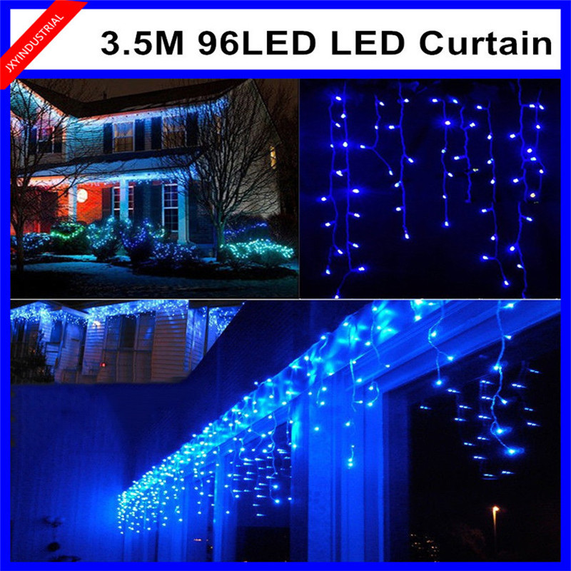 Led String Led Lighting Amiable 220v Led String Christmas Lights Curtain 3.5m/96leds With 8 Modes For Holiday/party/garden/new Year/decoration Free Shipping High Quality