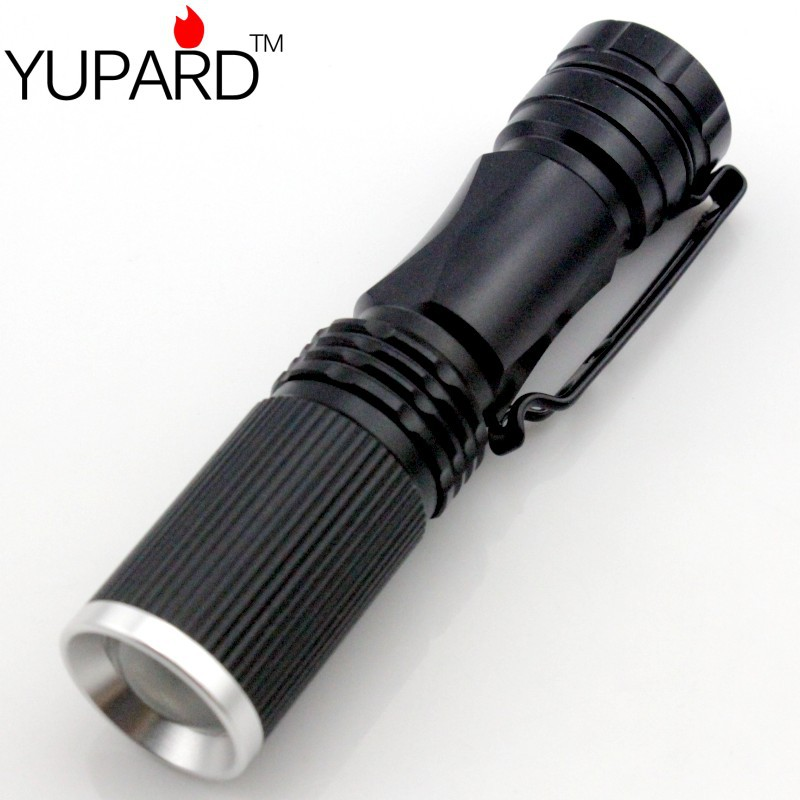 YUPARD Q5 LED Flashlight Waterproof focusable zoomable 1Modes torch AA or 14500 rechargeable battery outdoor sport camping
