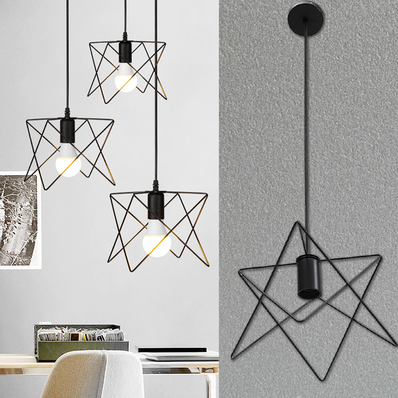 Pendant Lamp Iron Pendant Light HangLamp Bedroom E27 Metal Hanging Lamp Dreamlike Pendant Light Fashion Dinning Room