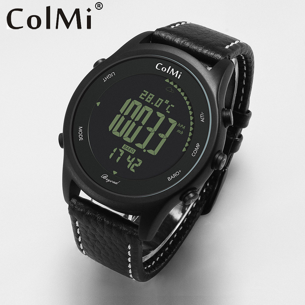 ColMi Beyond Smart Watch Ultra Slim Round Sport Leather Wrist with Compass Altitude Barometric for Mens and Couples beyond wavelets 10