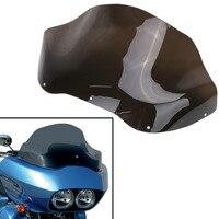 13 Motorcycle Windshield Windscreen For Harley Road Glide FLTR FLTRX FLTRU FLTRI 1998 2013 Transparent Dark