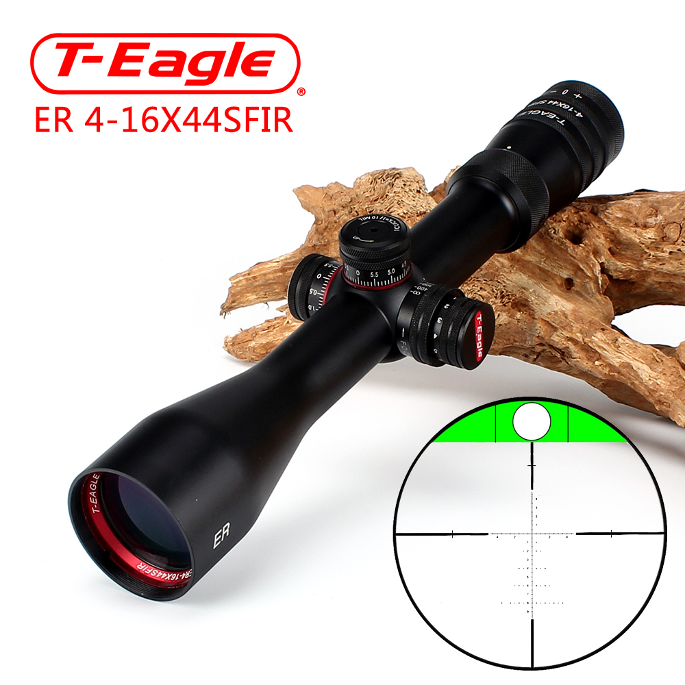 T-Eagle ER 4-16X44 SFIR Hunting Riflescope Side Parallax Glass Etched Reticle Turrets Lock Reset Built-in Bubb Level Rifle Scope
