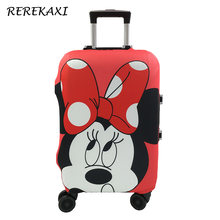 Minnie Mickey Suitcase Luggage Cover Elastic Case Covers For 19-32Inch Trolley Baggage Dust Protective Cover Travel Accessories(China)