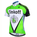 2016 saxobank tinkoff pro bicicleta ropa ciclismo uniforme rock desgaste bicicleta mtb ciclismo clothing farinha verde camisa de ciclismo de corrida