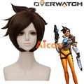Game Hair Wigs OW Overwatch Tracer Cosplay Wig Costume Party Short Straight Synthetic Wig
