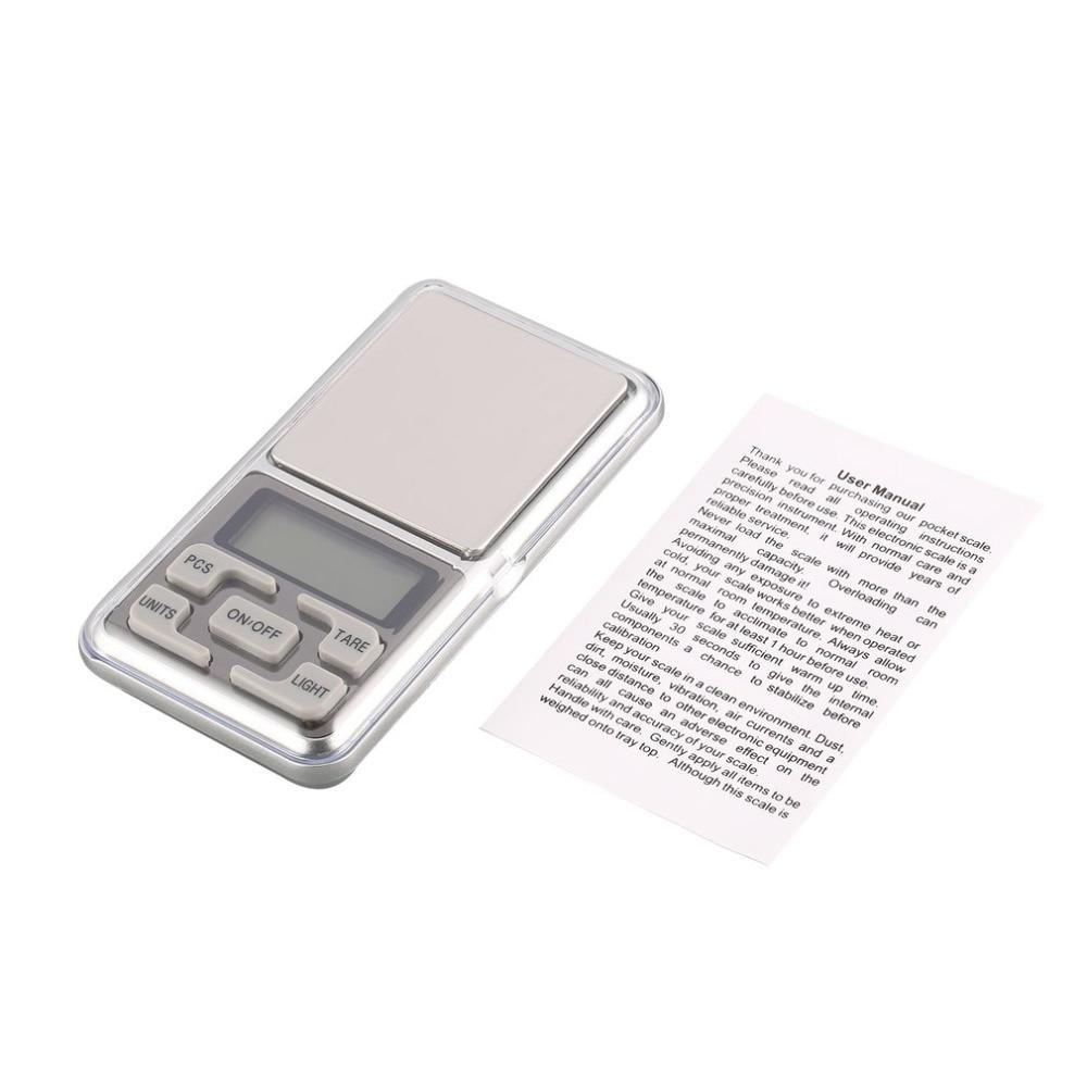 Silver Mini Digital Pocket Scale 1000g 0.1g Precision g/tl