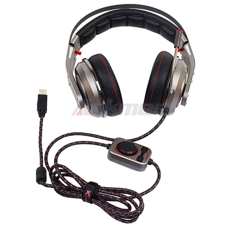 USB Gaming Headphones with Micrphone 7.1 Surround Sound Stereo Glowing Headset (7)