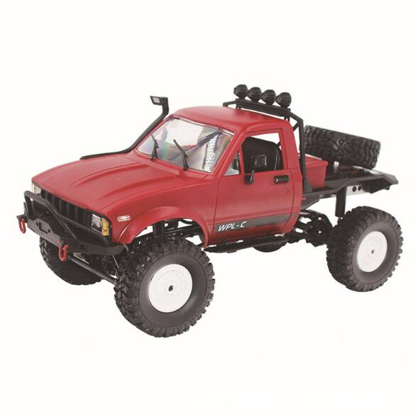 WPL C-14 1:16 RC Car 2.4G 4WD Off Road RC Military Car Rock Crawler Truck With Front LED RTR Remote Control Toys