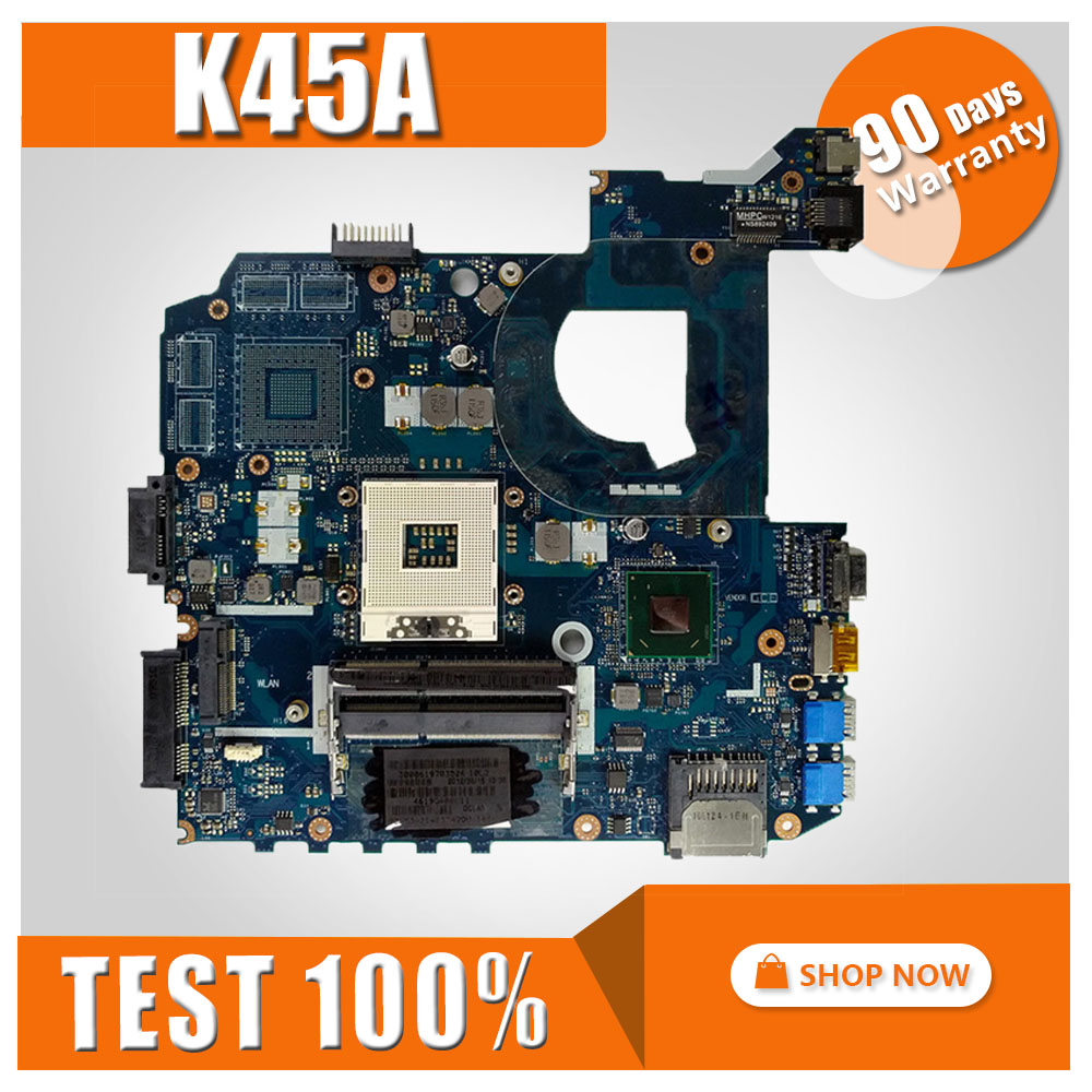 K45A motherboard LA-8221P for ASUS K45A K45VD A45V K45VM K45VS A85V Laptop motherboard K45A mainboard K45A motherboard test OK k45vd val40 la 8226p with i3 cpu gt610m 2gb mainboard for asus a85v a45v k45v k45vm k45vd laptop motherboard free shipping