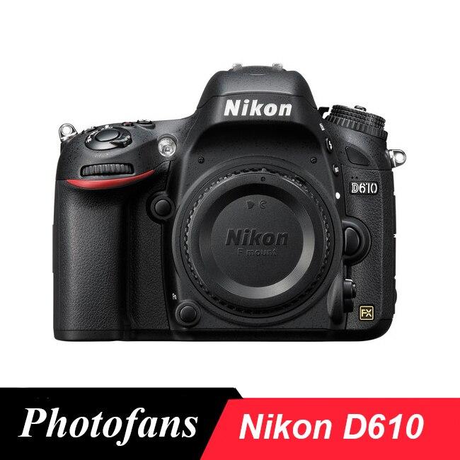 Nikon d610 dslr camera fx-formato-24.3 mp-1080 p vídeo 3.2