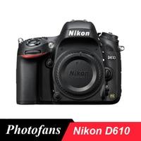 Nikon D610 24 3 MP FX Format 1080P DSLR Camera Body Only