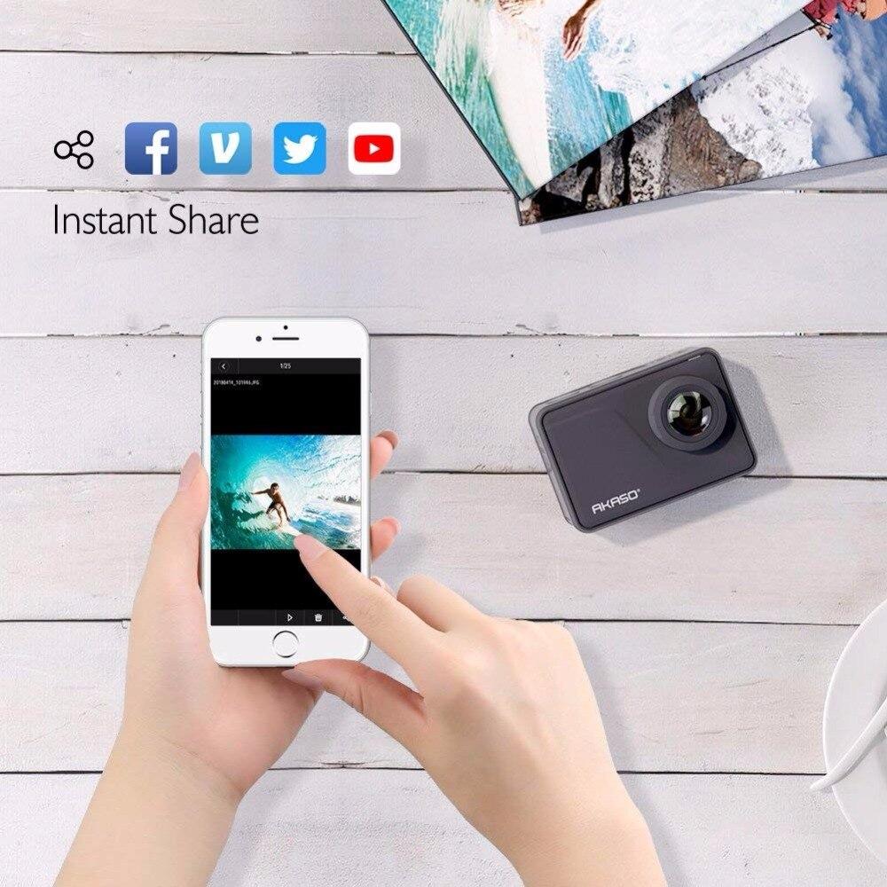 AKASO V50 Pro Natif 4 K/30fps 20MP WiFi caméra d'action 4 K avec L'EIS écran tactile Réglable angle de vue 30 m caméra imperméable - 2