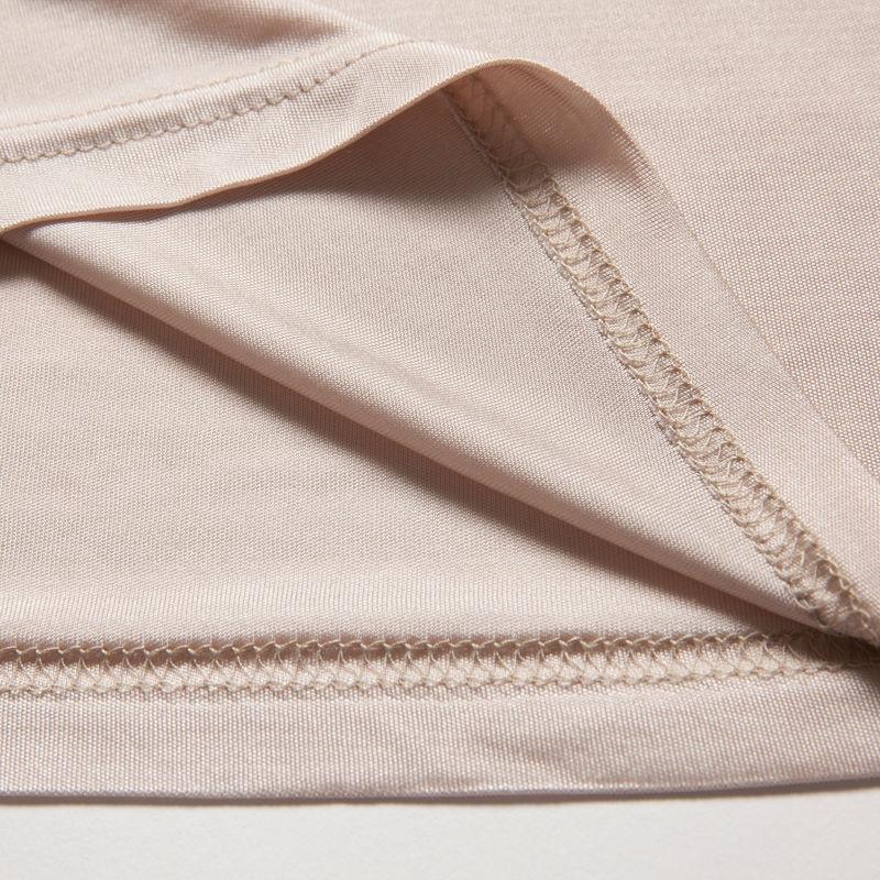 Women-Full-Slips-REAL-SILK-Sexy-slip-Solid-V-deep-neck-Anti-emptied-Padded-bra-slips (4)