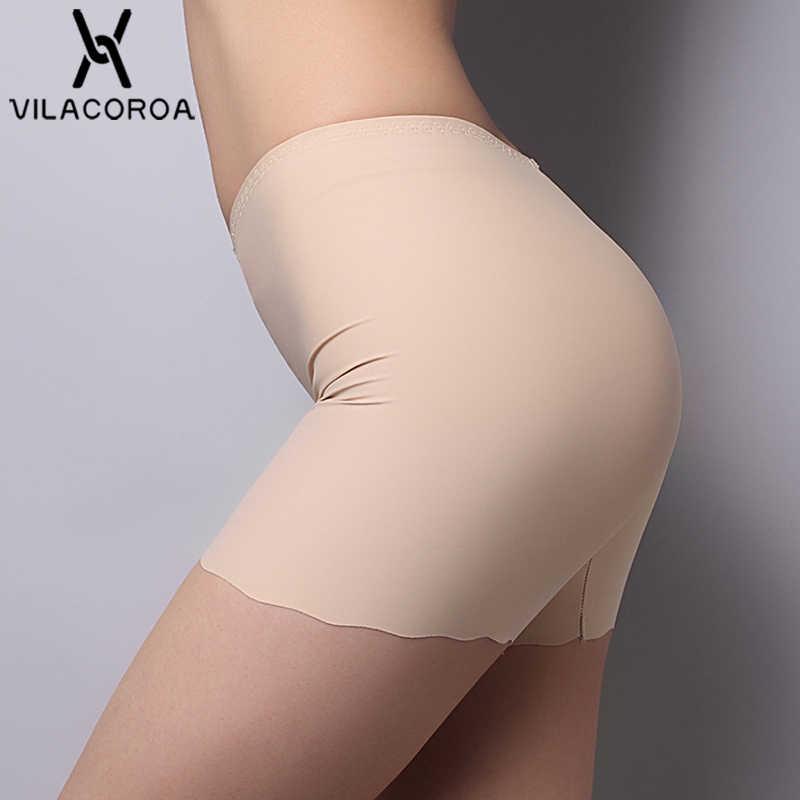 Nowy bez szwu lodu jedwabiu stałe bezpieczeństwa krótkie spodnie bielizna przewiewna majtki Sexy obcisłe bokserki majtki szorty gorące spodnie