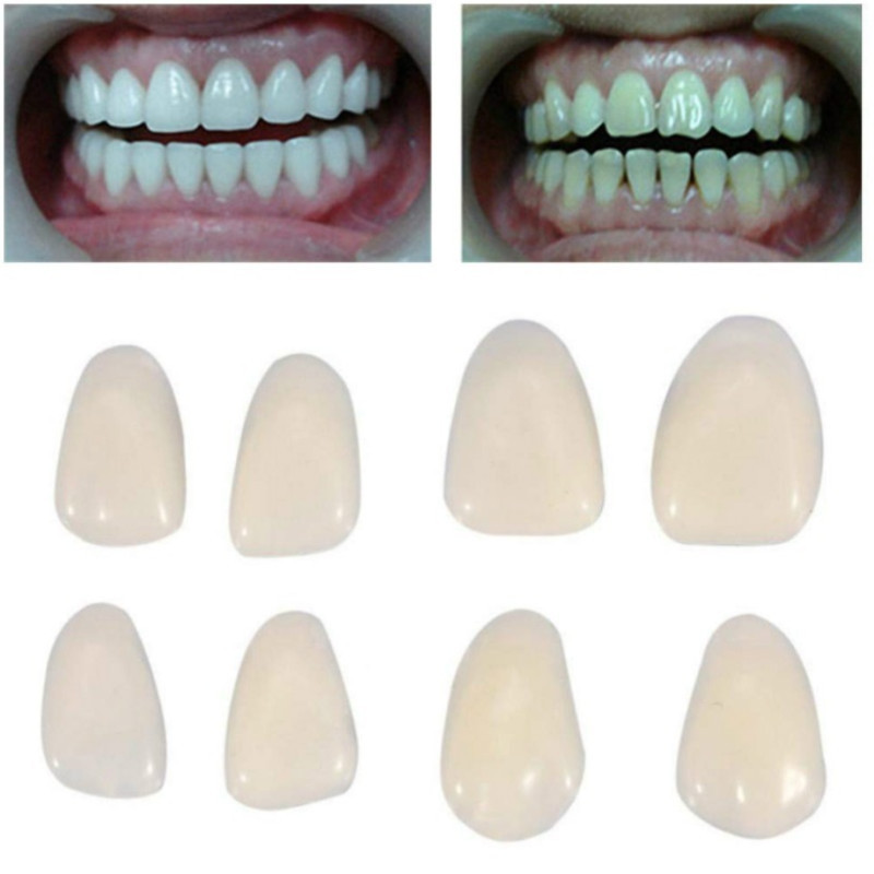 50Pcs/Box Resin Teeth Anterior Dental Temporary Porcelain Crown Ultra Thin Whitening Veneers Nature Stable Teeth