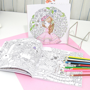 Image 2 - Flower girl secret garden coloring book ancient style painting book children coloring graffiti picture book