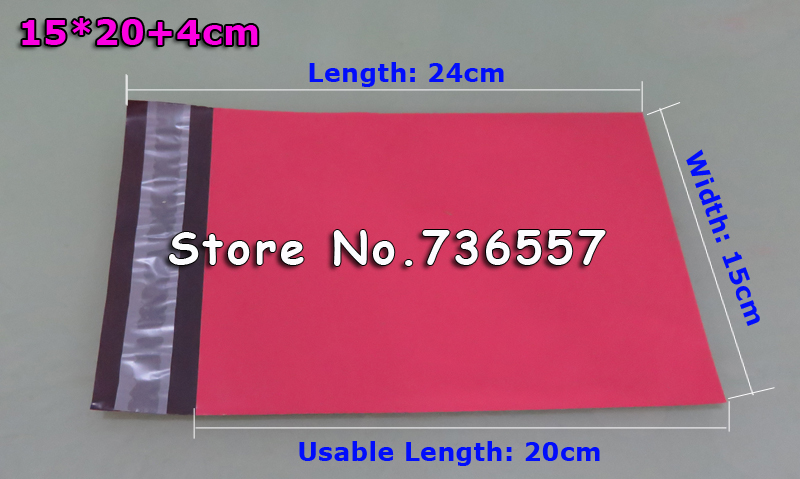 No Padded Envelopes Poly Mailer BY Mail Plastic Mailing Bags Envelope 100pcs/lot Hight Quality 15*20cm