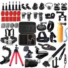 For Go pro kit Case for GoPro Hero 5/4/3/SJCAM Sj4000/Xiaomi Yi/Eken H9 H9R Mount Clip Tripod Action Camera Accessories