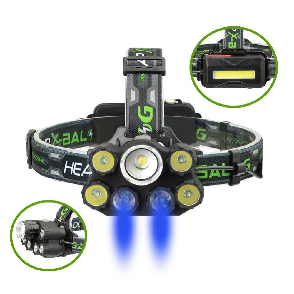 18000LM LED Headlamp Headlight XM-L T6 Rechargeable 18650 Head Lamp Light Torch