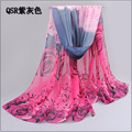 Winter Scarf Adult Cotton long scarf wome 2017 New Spring And Autumn Chiffon scarf Classic Women Rose Long Beach Towel bandana